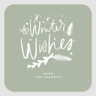 Winter Wishes Holiday Stickers