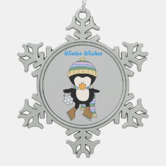Winter Wishes Skating Penguin Ornament