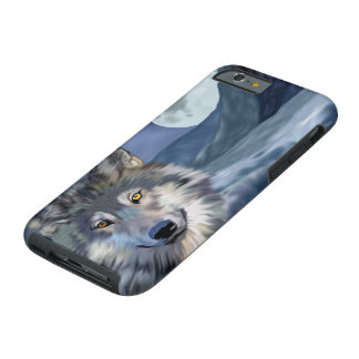 Winter Wolf Full Moon Tough iPhone 6 Case