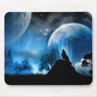 Winter Wolf Mouse Mat