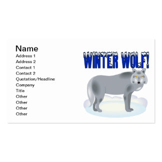 Winter Wolf Pack Of Standard Business Cards