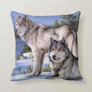 Winter Wolf Pillow