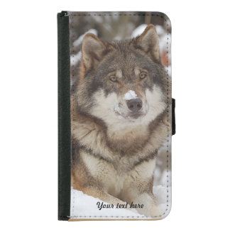 Winter Wolf Resting - Galaxy S5 Samsung Galaxy S5 Wallet Case