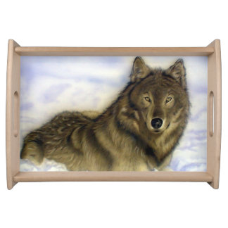 Winter Wolf Serving Tray