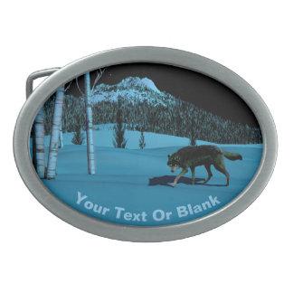 Winter Wolf - Tapetum Lucidum Belt Buckles