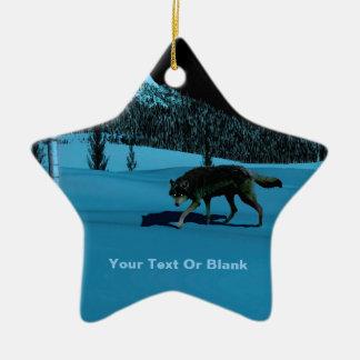 Winter Wolf - Tapetum Lucidum Ceramic Star Decoration