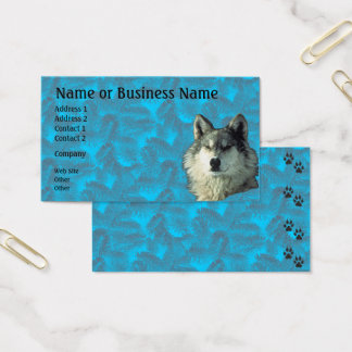 Winter Wolf with Spruce Business or Profile Card
