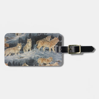 Winter Wolves Luggage Tag