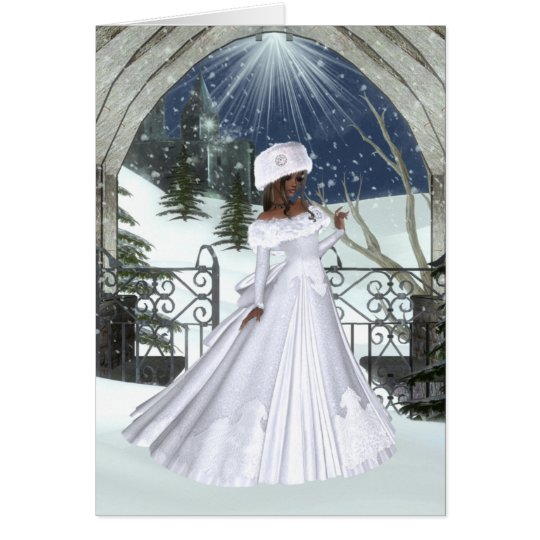 Winter Woman D3 Design - Fantasy Greeting Cards