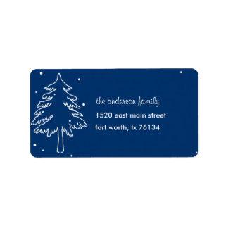 Winter Wonderland Address Label