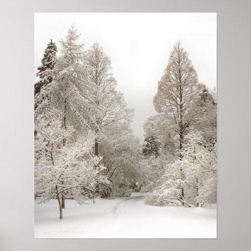 Winter Wonderland Art Print Winter Forest Poster