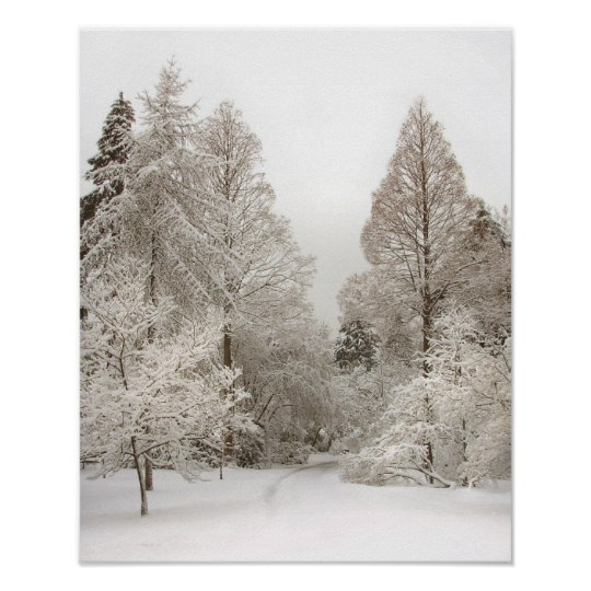 Winter Wonderland Art Print Winter Forest Poster