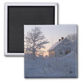 Winter Wonderland at Twilight Fridge Magnets