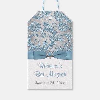 Winter Wonderland Bat Mitzvah Favor Tag - Ice Blue