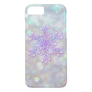 *~* Winter Wonderland Bokeh Snowflake iPhone 8/7 Case