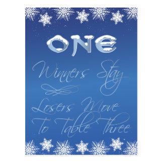 Winter Wonderland Bunco Table Card #1