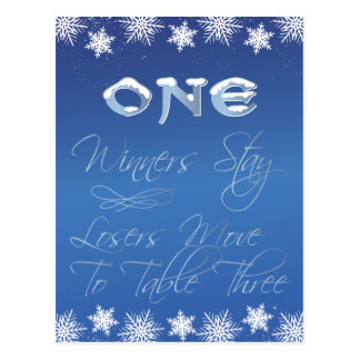 Winter Wonderland Bunco Table Card #1 Postcard