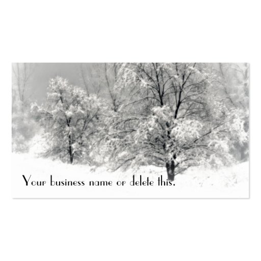 Winter wonderland business card templates front side