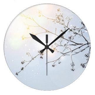 Winter Wonderland by Uname_ Large Clock
