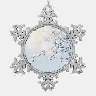 Winter wonderland by Uname_ Snowflake Pewter Christmas Ornament