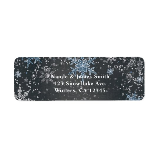 Winter Wonderland Chalk Blue Grey Party Invitation