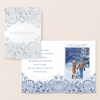 Winter Wonderland Christmas and Holidays Photo Foil Card