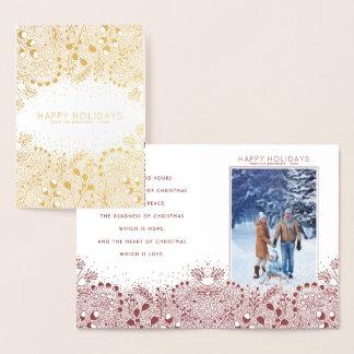Winter Wonderland Christmas and Holidays Photo Foil Card