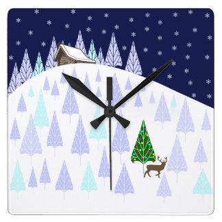 Winter Wonderland Clock