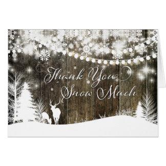 Winter Wonderland Deer & Lights Thank you Card