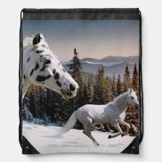 Winter Wonderland Drawstring Bag