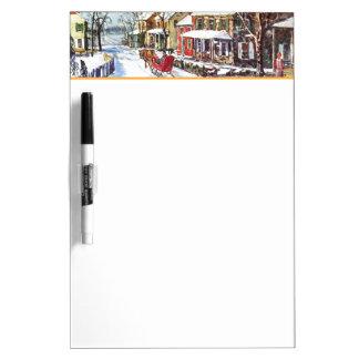 Winter Wonderland Dry Erase Board