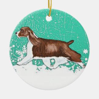 Winter Wonderland English Springer Spaniel Ornamen Christmas Ornament