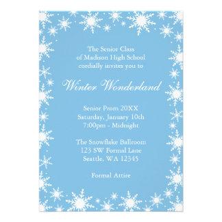 Winter Wonderland Formal Prom Dance Ball Custom Invite