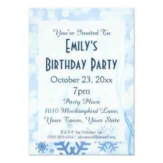 Winter Wonderland Frozen Frost Ice Birthday Party Card