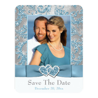 Winter Wonderland, Hearts PHOTO Save The Date Card