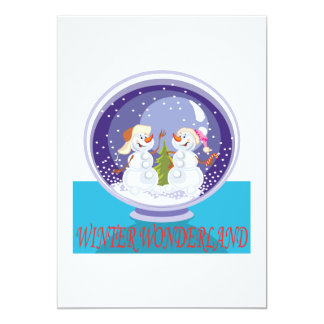 "Winter Wonderland 5"" X 7"" Invitation Card"