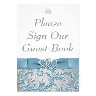 Winter Wonderland Joined Hearts Table Card