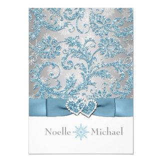 Winter Wonderland Joined Hearts Wedding Invite