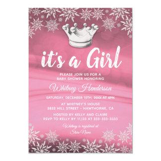 Winter Wonderland Little Princess Girl Baby Shower Card