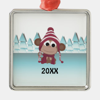 Winter Wonderland Monkey Christmas Ornament