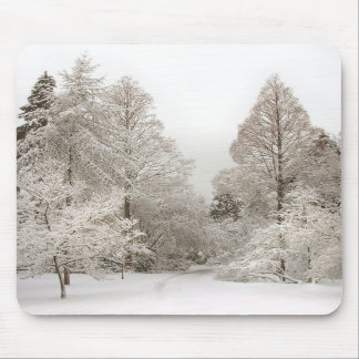 Winter Wonderland Mousepad Snow Forest Gifts