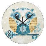 Winter Wonderland Owl Wallclock