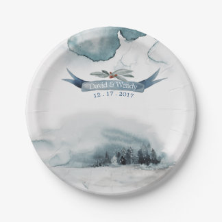 Winter wonderland  paper plate