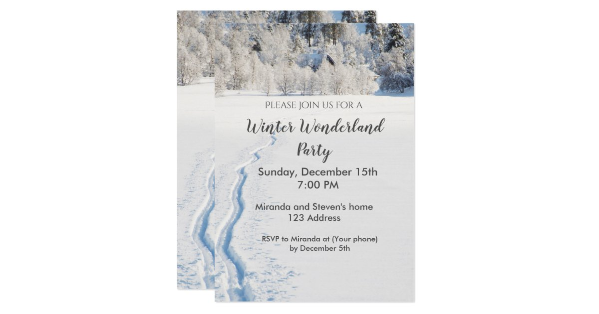 Winter Wonderland Party Invitation Card Zazzle Co Uk