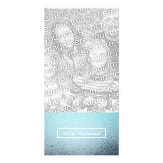 winter wonderland party window customized photo card