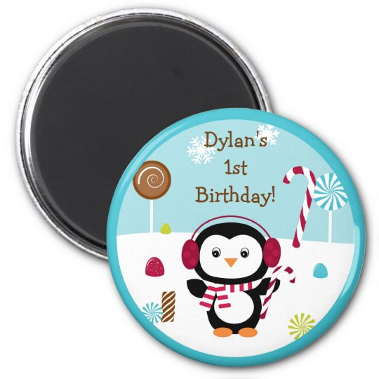 Winter Wonderland Penguin Party Favour Magnets