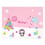 Winter Wonderland Penguin Thank You Note Cards Invites