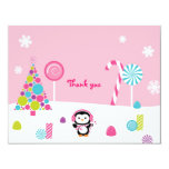 Winter Wonderland Penguin Thank You Note Cards 11 Cm X 14 Cm Invitation Card