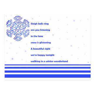 """""""Winter Wonderland"""" postcard"""