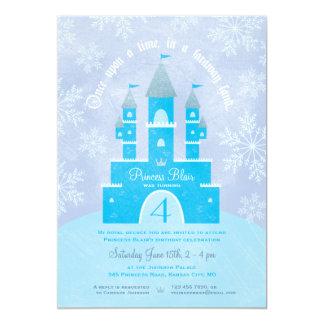 Winter Wonderland Princess Party Invitations